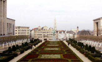 Jardin du Mont des Arts em Bruxelas na Bélgica