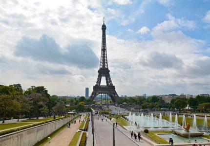 Trocadéro e tour eiffel em paris