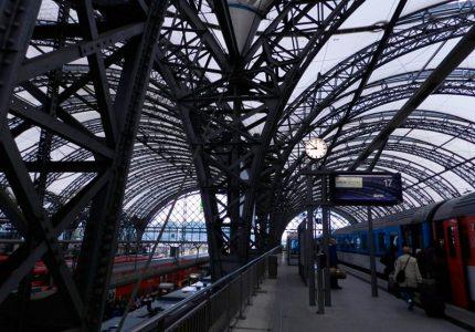 estação de trem na europa central