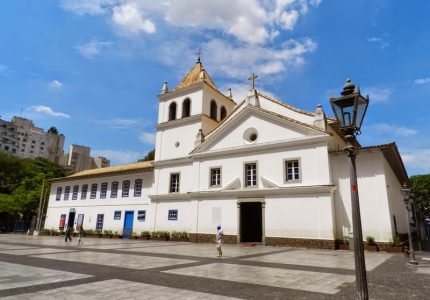 Fachada do Pátio do Collegio no centro de São Paulo