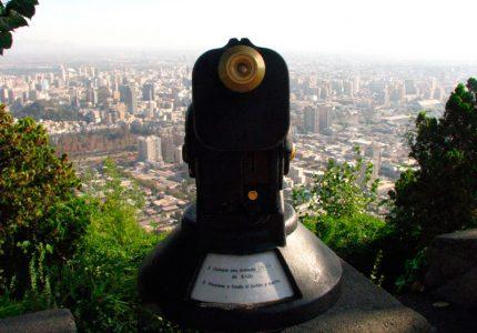 Cerro San Cristobal em Santiago de Chile