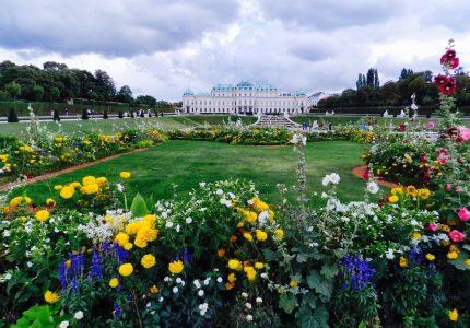 Vista do Belvedere a partir de seu jardim
